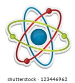 abstract science icon of atom... | Shutterstock . vector #123446962