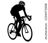 silhouette of a cyclist male on ... | Shutterstock .eps vector #1234472008