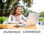 portrait of latin woman in...   Shutterstock . vector #1234485325