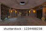 3d cg rendering of ancient ruins | Shutterstock . vector #1234488238