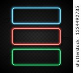 colorful neon frames set on... | Shutterstock .eps vector #1234492735