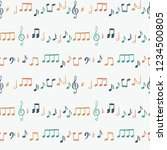 music notes seamless vector... | Shutterstock .eps vector #1234500805
