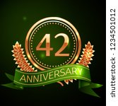 realistic forty two years...   Shutterstock . vector #1234501012