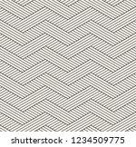 vector seamless pattern. modern ... | Shutterstock .eps vector #1234509775