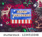 colorful christmas decoration ... | Shutterstock . vector #1234510348