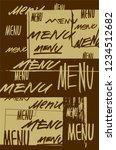 menu typographical grunge... | Shutterstock .eps vector #1234512682
