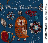 merry christmas print design ...   Shutterstock .eps vector #1234516912
