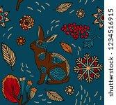 merry christmas print design ...   Shutterstock .eps vector #1234516915