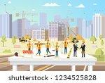 concept modern city... | Shutterstock .eps vector #1234525828