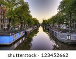 view on a typical canal in... | Shutterstock . vector #123452662