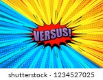 comic bright duel concept with...   Shutterstock .eps vector #1234527025