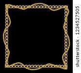 baroque golden chain background ... | Shutterstock . vector #1234527505