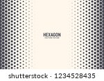 hexagon vector abstract... | Shutterstock .eps vector #1234528435