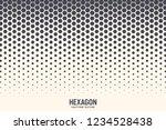 hexagon vector abstract... | Shutterstock .eps vector #1234528438