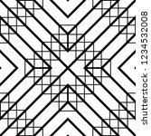 design seamless monochrome grid ... | Shutterstock .eps vector #1234532008