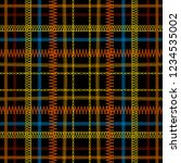 tartan embroidery colorful... | Shutterstock .eps vector #1234535002