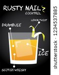rusty nail cocktail recipe... | Shutterstock .eps vector #1234537885