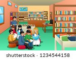 a vector illustration of group...   Shutterstock .eps vector #1234544158