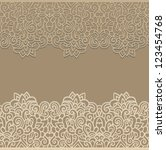 beige laced seamless border... | Shutterstock .eps vector #123454768