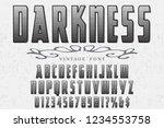 font script typeface vector... | Shutterstock .eps vector #1234553758