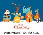 christmas music jazz party... | Shutterstock .eps vector #1234556632