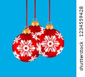 christmas balls hanging on a... | Shutterstock . vector #1234559428