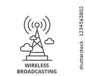 wireless broadcasting  line... | Shutterstock .eps vector #1234563802