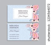 business card with beautiful... | Shutterstock .eps vector #1234564072