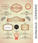 vintage labels | Shutterstock .eps vector #123456442