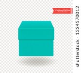 single cardboard box. top and... | Shutterstock .eps vector #1234570012