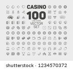 casino line icon set  gambling  ... | Shutterstock .eps vector #1234570372