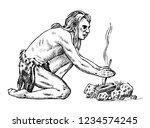 primitive people. prehistoric... | Shutterstock .eps vector #1234574245