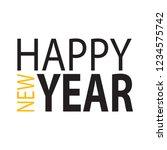 happy new year | Shutterstock .eps vector #1234575742