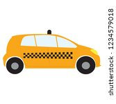 side view of a taxi | Shutterstock .eps vector #1234579018