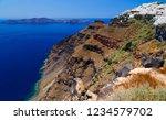 greece  santorini. amazing view ...   Shutterstock . vector #1234579702