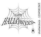 happy halloween background | Shutterstock .eps vector #1234581565