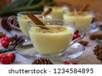 traditional winter eggnog with... | Shutterstock . vector #1234584895