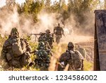 sniper team armed with large... | Shutterstock . vector #1234586002