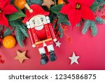 christmas composition.... | Shutterstock . vector #1234586875
