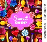 candy sweet shop background set ... | Shutterstock .eps vector #1234600345