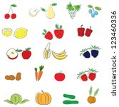 fruits and vegetables | Shutterstock .eps vector #123460336