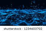 abstract tangle of lines onblue ... | Shutterstock . vector #1234603702