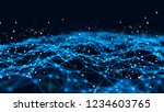 abstract tangle of lines onblue ... | Shutterstock . vector #1234603765