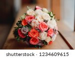 wedding bouquet with luxurious...   Shutterstock . vector #1234609615