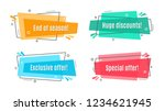 flat linear promotion ribbon... | Shutterstock .eps vector #1234621945