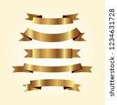 set of golden ribbons vector. | Shutterstock .eps vector #1234631728