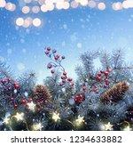 art christmas tree and holidays ... | Shutterstock . vector #1234633882