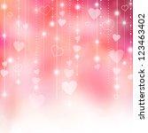 valentine's love hearts pink...   Shutterstock . vector #123463402