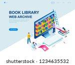 modern flat design isometric... | Shutterstock .eps vector #1234635532