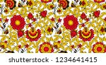 floral seamless pattern in... | Shutterstock .eps vector #1234641415